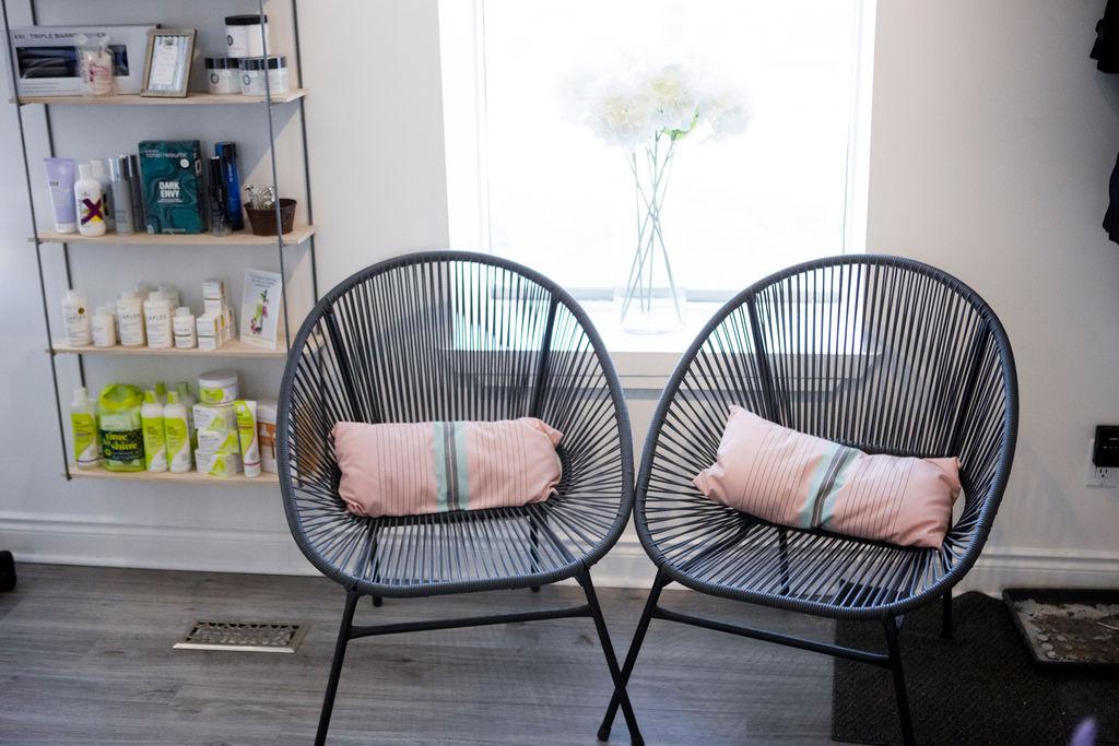 orangeville hair salon seating